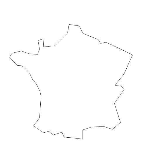 Cartina Geografica Muta Della Francia