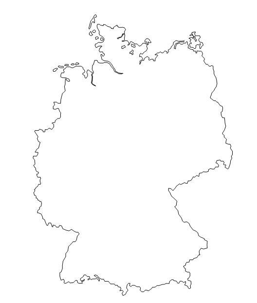 Germania Cartina Muta.Geografia Stefanoni Danilo