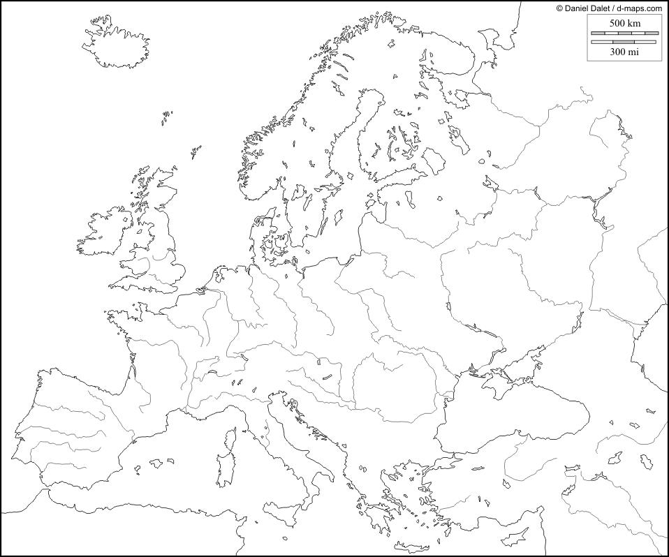 Cartina Dell Europa Politica In Bianco E Nero Baiestinebun