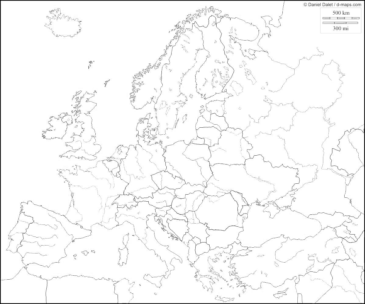 Cartina Muta Europa Fiumi Pieterduisenberg
