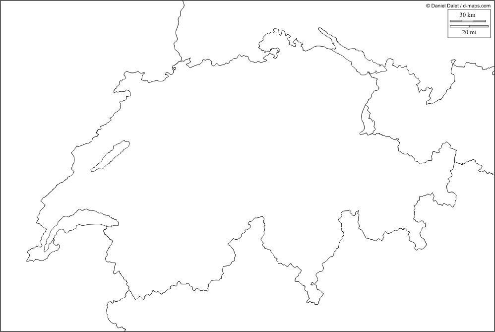 Cartina Svizzera Cantoni Vuota.Geografia Stefanoni Danilo