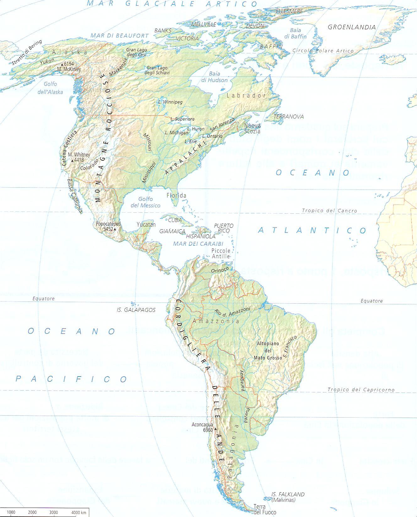 America Fisica Cartina.Cartina Muta America Del Sud Fisica