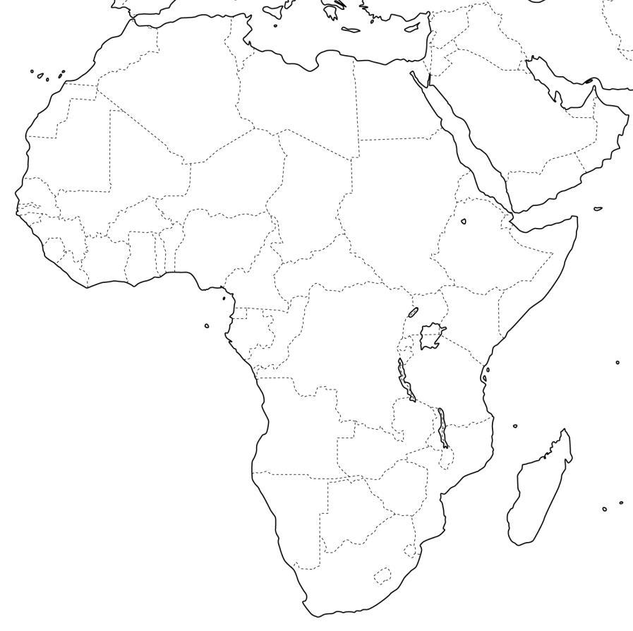 Cartina Fisica Muta Dell Africa.Cartina Muta Nord Africa E Medio Oriente
